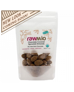 Rawmio Chocolate Covered Sprouted Almonds - 2 oz