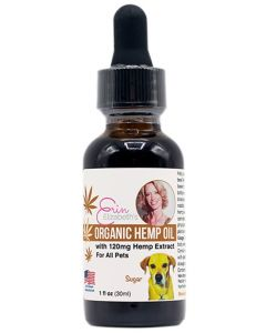 Erin Elizabeth's Organic CBD Hemp Oil with Hemp Extract For Pets - 120 mg