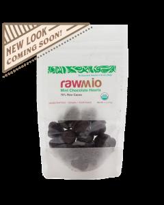 Raw Chocolate Hearts - Mint - 2oz