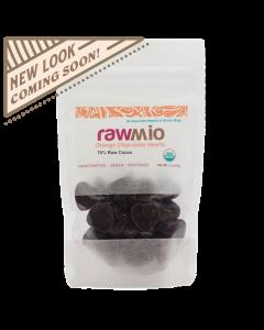 Raw Chocolate Hearts - Orange - 2oz