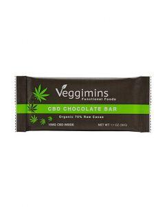 Veggimins Dark Chocolate Bar with Hemp CBD - 15 mg - 1.1 oz