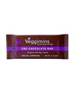 Veggimins Raw Chocolate Bar with CBD + Superfoods - 50 mg - 1.1 oz